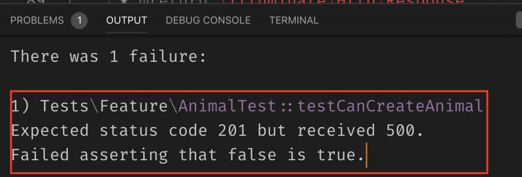 phpunit測試出現誤